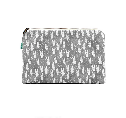 Bunnies Flat Pouch by Curio Wolf