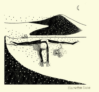 Yoga Desert Print by Harumo Sato