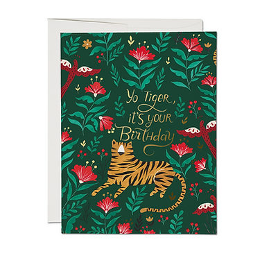 Yo Tiger It's Your Birthday Card by Red Cap Cards