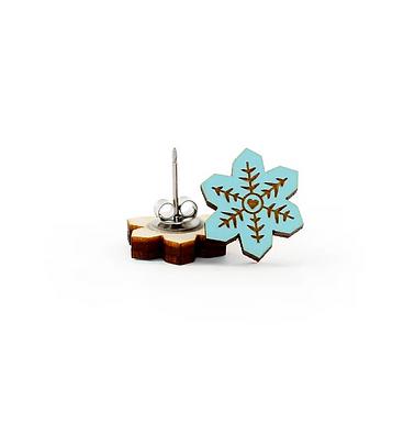 Blue Snowflake Earrings by Unpossible Cuts