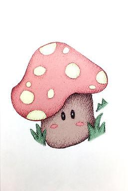 Cute Mushroom Print by Ria Art