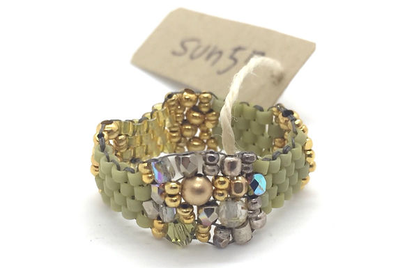 Beekeeper's Stitched Ring By Petite Sunflower Shop