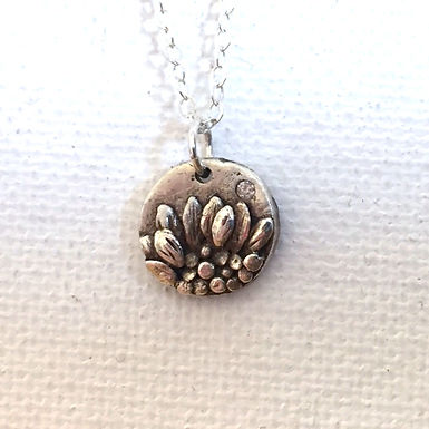 Rustic Sunflower White Diamond Necklace by Petite Sunflower Shop