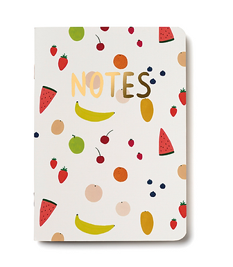 Fruit Notebook Unlined Notebook by Red Cap Cards