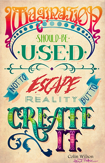 """Imagination"" Typography Signed Print by Heidi Black"