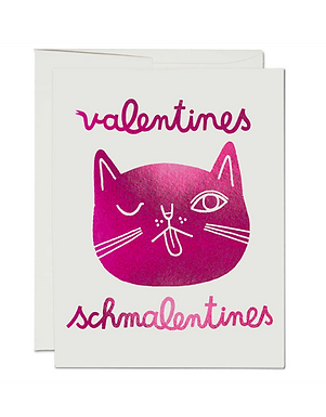 Set of 8 Valentines Schmalentines Cat Cards by Red Cap Cards