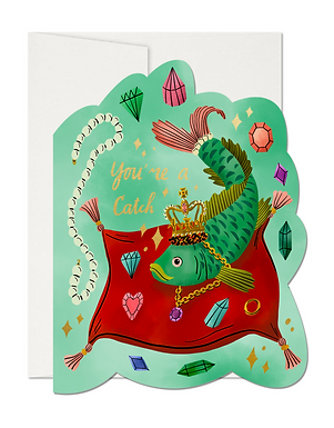 Set of 8 You're a Catch! Fish Cards by Red Cap Cards