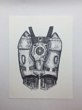 """""""Rocket Jet Pack"""" Print by Jen Meyers"""