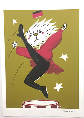 Cossack Lion Dancer Print by Harumo Sato