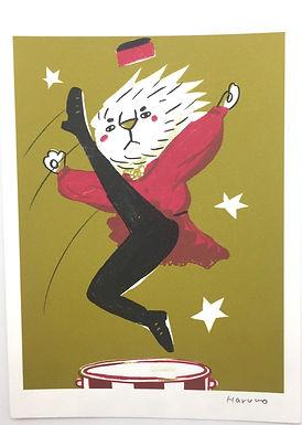 Cossack Lion Dancer Print by Harumo Sato