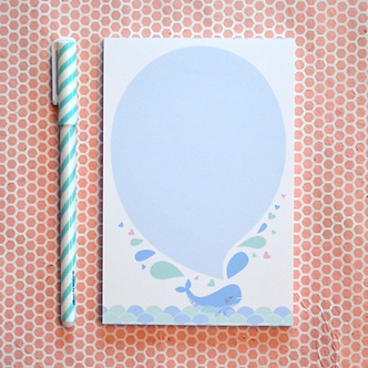 Whale Spout Notepad by Pennie Post