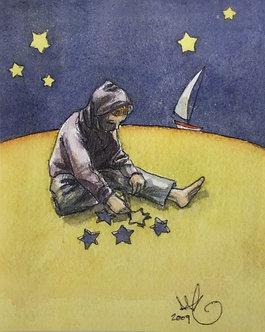 Star Cutting Print by Scout Tran