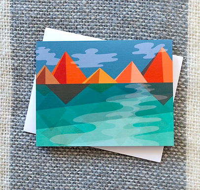 Geometric Fall in the Mountains Card by Pennie Post