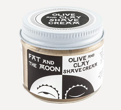 Olive and Clay Shave Cream by Fat and the Moon