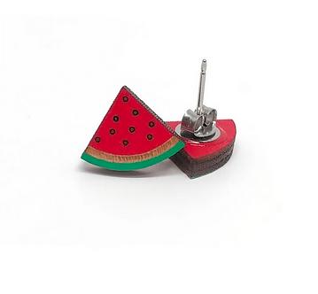 Watermelon Earrings by Unpossible Cuts