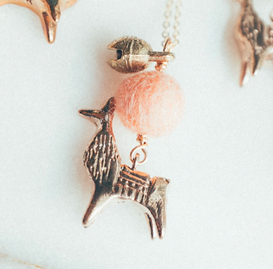 Llama Necklace by Dawning Collective