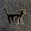 Thumbnail: Black Cat Enamel Pin by That's Good Paper