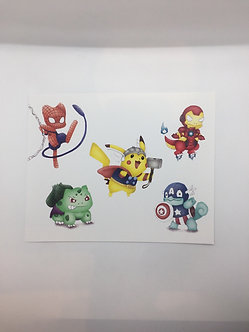 Pokemon Avengers Crossover Print by Ria Art