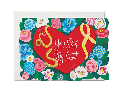 Stole My Heart Card by Red Cap Cards