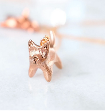 Cat Necklace by Dawning Collective