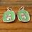 Thumbnail: Enameled Cat Earrings by Mark Poulin