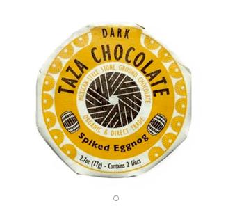 Organic Stone Ground Spiked Eggnog Dark Chocolate Discs by Taza Chocolate