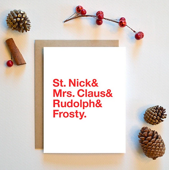 Helvetica Christmas Card by Pennie Post