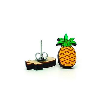 Pineapple Earrings by Unpossible Cuts