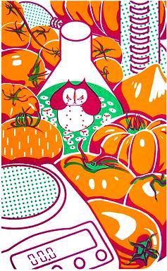 """Tomato Lab"" Print by Harumo Sato"