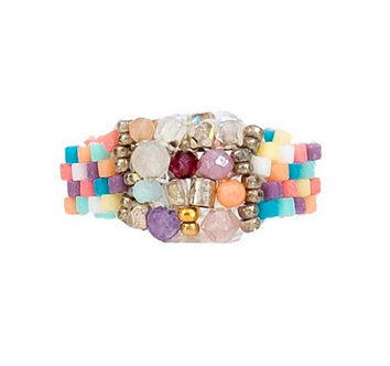Pantone Mix Stitched Ring #1  By Petite Sunflower Shop