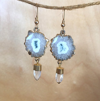 Crystal Flower Earrings by Modern Artifacts