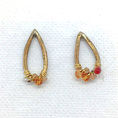Citrine Teardrop Earrings by Petite Sunflower Shop