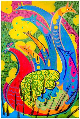 Phoenix Bubbles Print by Harumo Sato