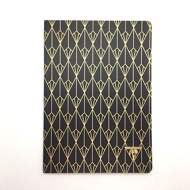 Black and Gold Geometric Art Deco (A5 Lined) Notebook by Clairefontaine