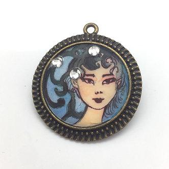 Diamond Girl Pendant by April Gee