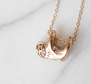 Sloth Necklace by Dawning Collective