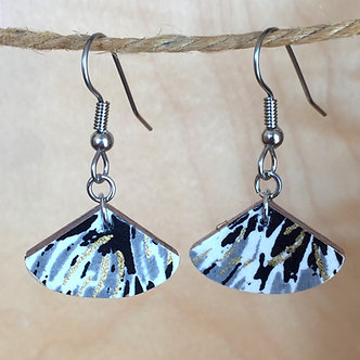 Small Fan Drop Earrings by Chibi Jay Designs