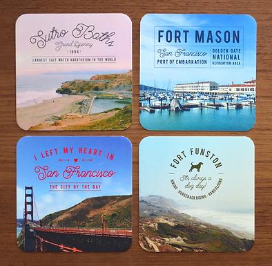 San Francisco Photo Coasters by Pennie Post