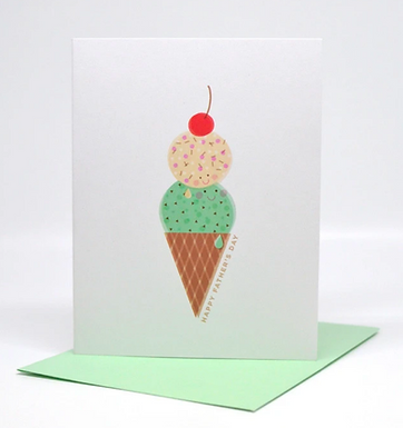 Father's Day Ice Cream Card by Pennie Post