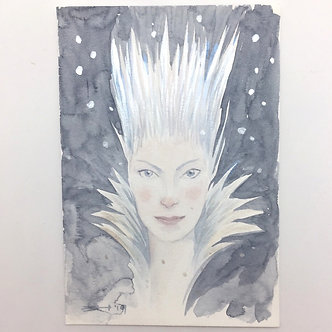 Faerie Original Watercolor by Emily Hare