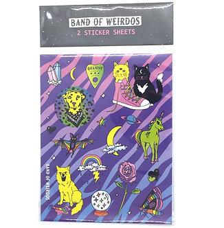 Lisa Freak Sticker Sheet by Band of Weirdos