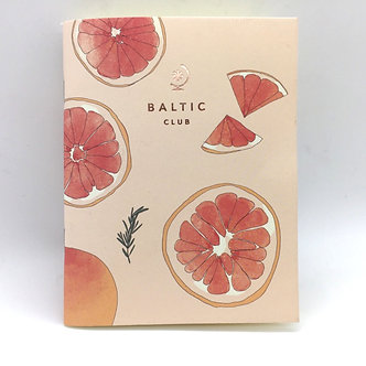 Grapefruit Unlined Pocket Notebook by Baltic Club