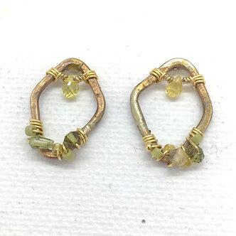 Peridot Rhombus Earrings by Petite Sunflower Shop