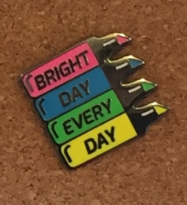 Bright Day Highlighters Enamel Pin by Compoco