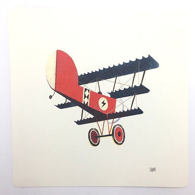 Red Plane Print by Timothy Lamb
