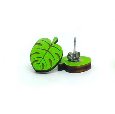 Monstera Leaf Earrings by Unpossible Cuts
