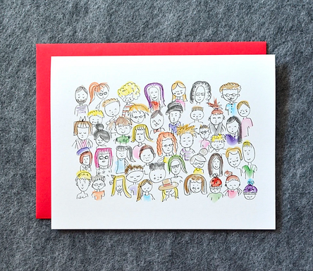 People of the World Illustration Card by Pennie Post