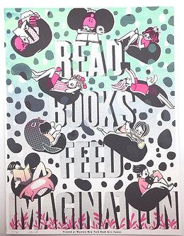 Read Books Feed Imagination Screen Print by Harumo Sato