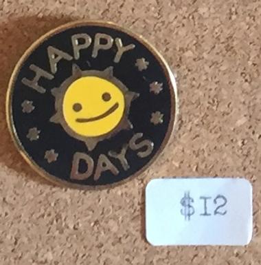 Happy Days Black Enamel Pin by That's Good Paper