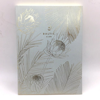 Flowers and Fronds Lined Notebook by Baltic Club